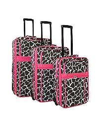 World Traveler 3 件可扩展直立行李箱