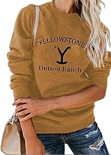 Yellowstone Dutton Ranch 运动衫女式长袖搞笑图形电视节目套头上衣