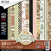 "Ciao Bella Voyages Extraordinaires Dbl-Sided 紙 90lb 6""X6"" 24/Pkg"