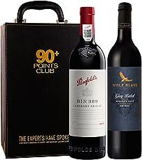 【亚马逊直采】TWE富邑90+ 红葡萄酒双支礼盒(Penfolds 奔富 Bin389+纷赋 灰牌 红葡萄酒750ml)