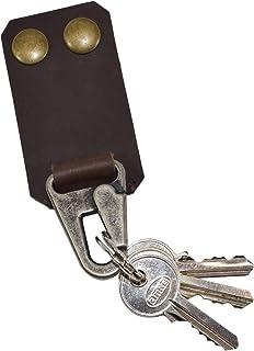厚皮带扣钥匙扣钩 Hide & Drink 手工制作:波旁棕色