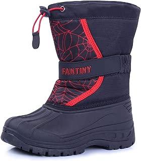 cior Kids' 一脚蹬冬季麂皮雪地靴户外时尚温暖皮草靴(小童/大童)