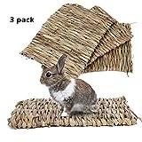 "BESAZW 兔垫,兔子草地垫,可食用兔子地毯,兔子可爱兔子玩具 A:11""*7.8""(3 Pack)"