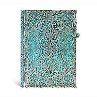 paperblanks 爱尔兰 Silver Filigree系列横线笔记本中号玛雅蓝