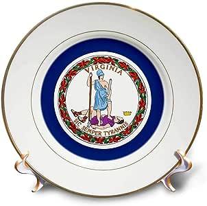 SANDY mertens 弗吉尼亚–州旗 OF 弗吉尼亚纪念币 (pd-us)–盘子