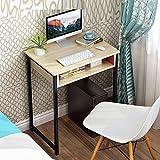 【质保三年】 电脑桌 抽屉式台式电脑桌家用办公桌简约写字台边桌简易书桌梳妆台 (60cm白枫木色)