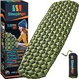 Sleepingo 野营睡垫 - 垫,(大号),超轻 14.5 盎司,背包*佳睡垫,远足空气床垫 - 重量轻,充气紧凑,露营*垫
