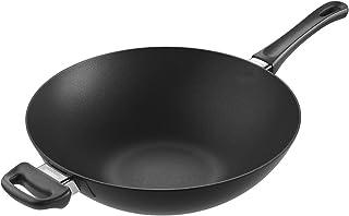 Scanpan 经典感应炒锅,12.5英寸(约31.8厘米),黑色