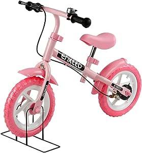 ENKEEO 12 运动平衡自行车无踏板行走自行车带碳钢框架,可调节车把和座椅,110 磅容量适合 2 至 6 岁儿童