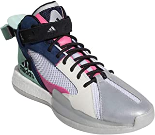 adidas 阿迪达斯 男式 Posterize Basketball Collegiate *蓝/震动粉色/米白色 11.5
