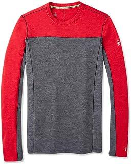 Smartwool 男士 Merino Sport 250 长袖圆领保暖上衣 Chili Pepper Heather XL