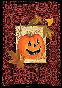 Toland Home Garden Gothic Pumpkin Garden Flag Garden-Small-12.5x18-Inch