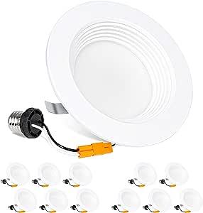 Hykolity 4 英寸 LED 嵌入式灯 12 件装 5000k Daylight White 12 包 HY-D410W5K-12