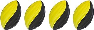 LMC Products 迷你泡沫足球 - 泡沫球 - 儿童户外玩具 - 易于抓握 - 四个 5 英寸儿童玩具球 - *好的迷你足球 黄色