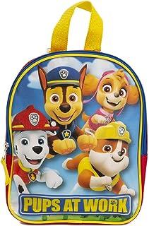 Paw Patrol 狗狗巡逻队迷你背包 适合儿童和幼儿 - 10 英寸,红色,蓝色和黄色