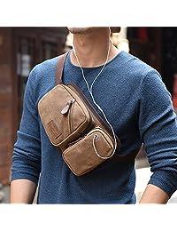 Marroke 马瑞克 多功能腰包胸包男 手机包 韩版休闲斜跨小包 男士帆布包
