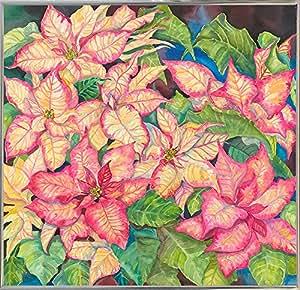 Frame USA 粉色杂色府绸加框印刷品 24.13 厘米 x 25.4 厘米 由 Joanne Porter-JOAPOR80312,24.13 厘米 x 25.4 厘米,银色金属框架