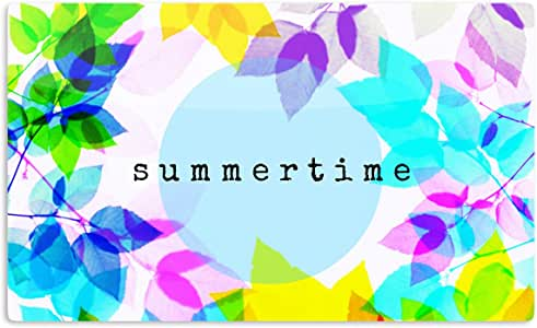 "KESS InHouse 雷塔马人造丝""季节夏季""彩虹叶艺术铝磁铁,5.08 厘米 x 7.62 厘米,多色"