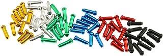 ZRM&E 60 件自行车电缆端盖自行车自行车刹车移位自行车自行车零件适用于制动变速器电缆,6 种颜色(红色,黑色,蓝色,*,金色,银色)