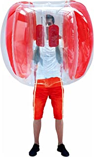 Elevens 可充气 4 英尺可穿 Buddy Bumper Zorb 球重型耐用 PVC 乙烯气泡足球户外游戏(仅 1,红色)