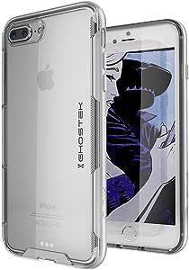iPhone 8 Plus / 7 Plus 手机壳,Ghostek 斗篷 3 系列超薄 TPU 超耐用手机壳iPhone 7/8 Plus 银色