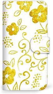 MITAS 智能手机保护壳翻盖型草花可爱  黄色 18_HUAWEI (P9 lite PREMIUM)