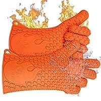 ekogrips # 1heat-resistant 烹调手套   领先品牌适用于 pitmasters   美国设计   3种尺寸 橙色 L/XL