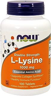 NOW Foods L- 赖氨酸 1000 毫克 100 片(2 瓶装)