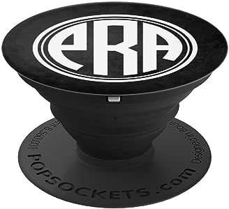 PRA 交织字母礼物首字母 PRA 或 PAR 黑色 PopSockets 握把和支架,适用于手机和平板电脑260027  黑色