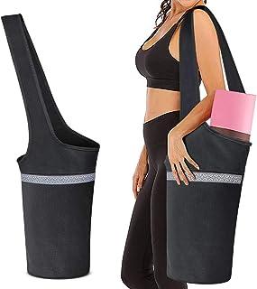 Komake 瑜伽包,瑜伽垫袋,大号口袋和拉链口袋,多功能和美丽的女性瑜伽背带,适合大多数尺寸的瑜伽垫
