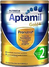 Aptamil 新西兰爱他美 金装 婴儿奶粉 2段900g(6-12个月) 包邮包税【跨境自营】