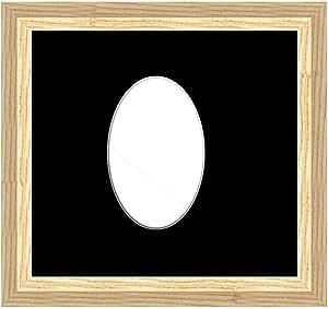 Framecraft Bath Ltd 图片,相框,木质,Sml Cotswold 灰色(黑色),6 x 4