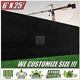 colourtree 6' X 50' 栅栏屏幕 mppap002黑色–商业级150GSM–重型–3年保修 黑色 6' x 25'