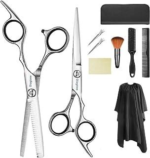 专业理发剪刀 9 件套美发剪刀套装,理发剪刀,修剪剪,理发剪梳,夹子,斗篷,*剪工具包,适用于家庭,沙龙,理发师