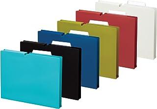 国誉 文件夹 个别型号 NEOS A4 6色组合 6册(各色×1本)/6色套装 マチ30mm