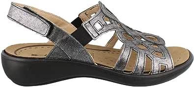 Romika 女士,Ibiza 63 低跟凉鞋 煤灰色 Medium / 36 M EU / 5-5.5 B(M) US