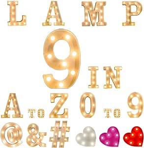 A~Z 发光字母白色塑料 3D LED 马灯字母发光字母灯标志家庭婚礼周年派对酒吧生日毕业典礼 2019 BALLOON F