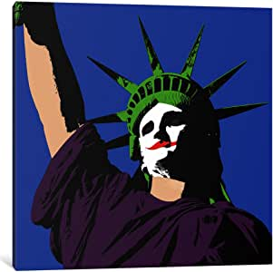 """iCanvasART 1 Piece Joker Lady Liberty Canvas Print by Ginger, 26 x 26""""/0.75"""" Deep"""