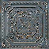 从简单到美丽的时光 DCT04aw-24x24-25 Elizabethan 盾牌天花板瓷砖 石墨金 DCT04gg-24x24-25