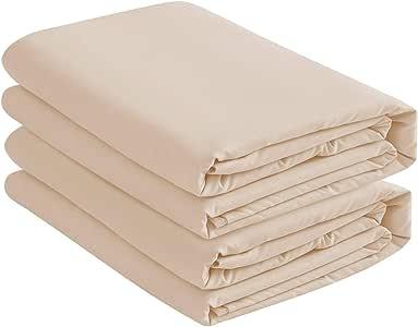 基本选择(2 件装深口袋床笠/底层床单 米色 Queen