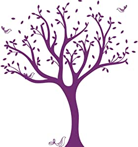 LittleLion Studio 053001010000000000000000 高管树单色墙贴 紫罗兰色 053025040000000000000000