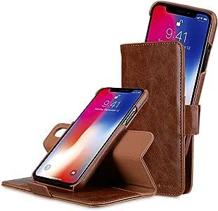 Melkco PU 皮革正面翻盖钱包书套支架卡槽皮套磁性开合苹果 iPhone X 手工护套 - 字母钱包类型MMAPAPIP8XAWTBNCHPU 棕色
