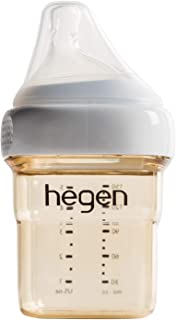 Hegen 婴儿奶瓶 - 防胀气宽领 PPSU 喂养奶瓶 - 多功能哺乳系统 5 盎司,8 盎司,11 盎司,单瓶或 2 只装 单件 5oz (Single)