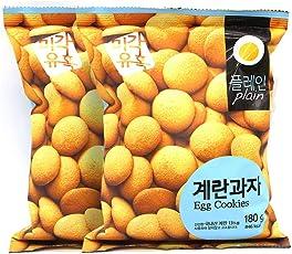 味觉诱惑 原味鸡蛋饼干休闲零食饼干 180g*2 袋 (韩国进口)