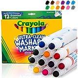 Crayola 绘儿乐 洁净可清洗马克笔 宽线 12支