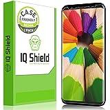 Galaxy S8 屏幕保护膜,IQ Shield LiQuidSkin 全覆盖屏幕保护膜适用于 Galaxy S8 5.8 英寸屏幕 2017(2 件装,保护套友好更新版本)防刮,高清透明防气泡膜