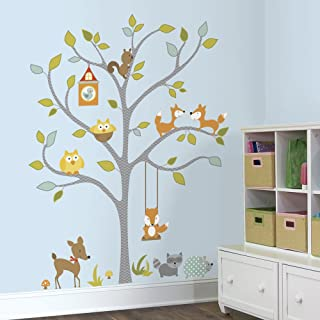 RoomMates Woodland Fox and Friends Tree Peel and Stick Wall Decals