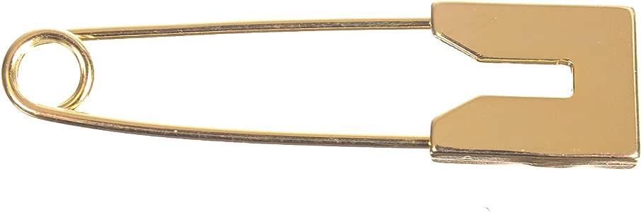 """锌压铸短裙别针 – 5.08 cm – 方形""""U"""" 形头 金色 均码 ZZC_MIB71M_G"""