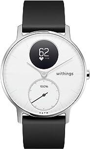 Nokia 诺基亚 | Steel HR Hybrid智能手表 - 活动追踪,心率监测,睡眠监视,防水智能手表 - 黑色硅胶表带(银色/白色,36毫米)