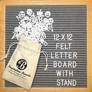 Board2by 双面毛毡信板 25.4x25.4cm,灰色和黑色可换留言板 A05